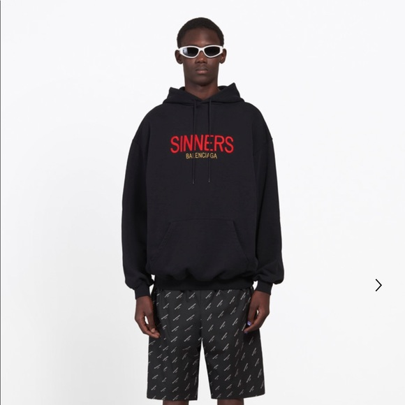 new product beauty on feet images of Balenciaga Sinners Hoodie